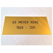 Plaque Alu or 15x6,5 cm