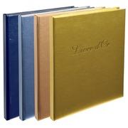 Gastenboek Balacron kaft met opschrift Livre d'Or - 140 pagina's - 21x19cm verticaal