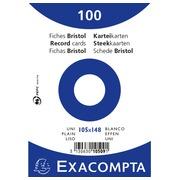 Pak 100 steekkaarten in folie - bristol effen niet geperforeerd - 105x148mm