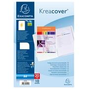 Kreacover® Personaliseerbare showalbums harde PP met vaste rug - 10 tassen - 20 zichten - A4