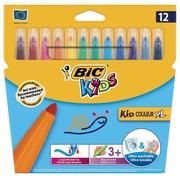 Bic Kids Kid Couleur XL feutre, étui de 12 pièces