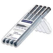 Staedtler fineliner Pigment Liner opstelbare box met 4 stuks (0,1 - 0,3 - 0,5 en 0,7 mm)