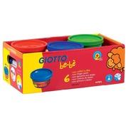 Giotto be-bè gouache au doigt, paquet d'école 6 x 150 ml en couleurs assorties