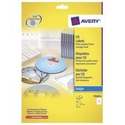 Zweck étiquettes maxi couvrantes pour CD/DVD pour CD, 16 étiquettes, brillant, boîte de 8 feuilles