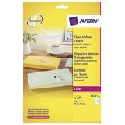 Etiket Avery L7563 99.1x38.1mm transparant 350stuks