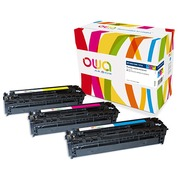 Pack 3 toners Armor Owa compatibles HP 131A cyan, magenta, jaune
