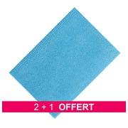 Pack promo 2 paquets 25 lavette Niconet synthétique Bleu = 1 offert