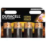 Alkaline batterie D - LR20 Duracell Plus Power - Blister of 4 batteries