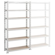 Archive rack Archiv' Eco 2 - basis element H 200 x W 100 x D 35 cm galvanized steel plate single access