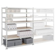 Archive rack Archiv' Eco 2 - basis element H 200 x W 150 x D 70 cm galvanized steel plate double access