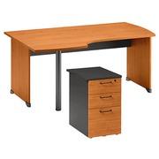 Pack werkpost B 160 + ladeblok op bureauhoogte als bijzet links 3 laden Quarta Plus els