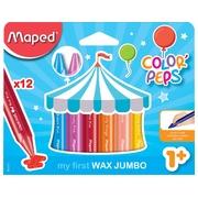 Maped waskrijt Color'Peps Early Age, doos van 12 stuks in geassorteerde kleuren