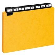 Guide de classement 148 x 210 mm Exacompta jaune - Jeu de 24
