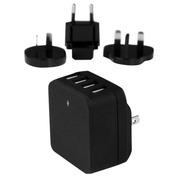 StarTech.com 4-Poorts USB lader - internationale reislader - hoog vermogen 34W/6.8A - universele oplader met Smart IC technologie netspanningsadapter
