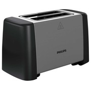 Philips Daily Collection HD4825 Metal Compact - broodrooster - zwart/roestvrij staal