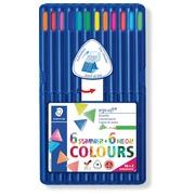 Staedtler crayon Ergosoft 157, triangulaire, étui de 12 pièces en couleurs assorties
