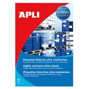 Label in polyethylene for laser 210 x 297 mm Apli - white - sleeve of 10