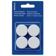 Maul magneet MAULsolid, diameter 38 mm, wit, blister van 2 stuks