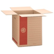 Caisse déménagement Bruneau kraft brun double cannelure L 46 x l 46 x H 58 cm