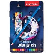 Bruynzeel crayons couleurs Triple Soft Grip, boîte de 12 pièces