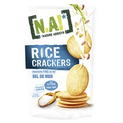 Box with Na! Rice crackers sea salt  - box of 70 g