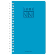 Agenda Daily 2020 with spiral binding Aurora rood
