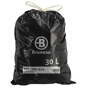 Garbage bag 30 L superior quality with drawstring Bruneau - box of 100