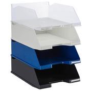 Letter tray maxi size Exacompta white transparant