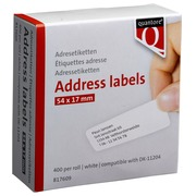 Etiquettes Quantore DK-11204 17x54mm blanc