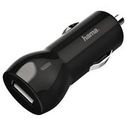Chargeur voiture Hama USB-A 2.4A noir