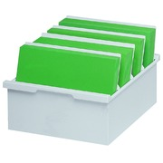 Boîte à fiches Exacompta A4 bac plastique gris