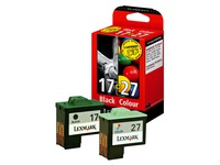 Pack cartridges Lexmark n° 17 + n° 27
