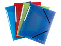 Sleeve 3 folds Exacompta translucent polypropylene 5 assorted colours