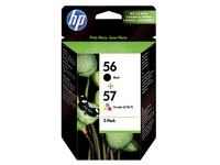 Pack van 2 cartridges HP 56 zwart en 57 kleur