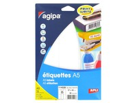 Box of 96 adhesive labels Agipa 114028 white 46 x 97 mm laser and inkjet