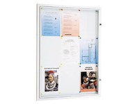 Outdoor display case 9 sheets, bottom clear grey metallic