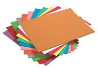 Pack of 100 folders, vivid colours