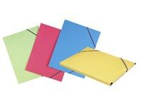 Map met rekkers en 3 kleppen in karton Elba 24 x 32 cm rug 2 cm ) geassorteerde kleuren