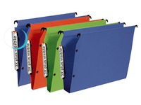 Suspension files for cabinets 33 cm, polypropylene, bottom 30 mm, assorted colours