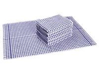 Pakket van 6 handdoeken 100% katoen (3 blauwe en 3 rode)