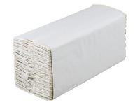 Box of 2400 towels, C-folded, double layered - ecru