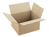 Amerikaanse doos bruine gegolfde kraft H 12 x B 19 x D 23 cm