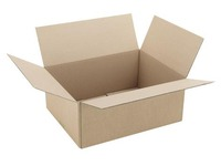 Carton Caisse américaine kraft brun simple cannelure L 40 x l 30 x H 16 cm