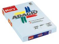 Papier kleur blauw A3 80 g Rey Adagio pastelkleuren - Riem van 500 bladen