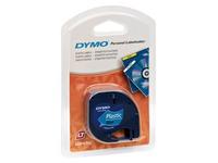 Ruban plastique Dymo Letratag 12 mm S0721650 bleu écriture noire