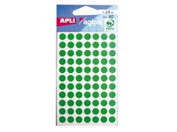Pack of 462 dots D 8 mm green