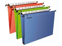 Suspension files for drawers 33 cm, polypropylene, bottom 30 mm, assorted colours