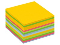 Bloc cube multicouleurs Post-It 76 x 76 mm - bloc de 450 feuilles.