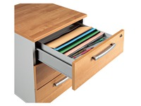 Organiser drawer for 6 slots grey metal