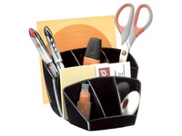 Pencil pot Cep 6 compartments - black